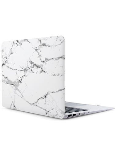 "Mcstorey MacBook Retina A1398 15"" 15.4"" Kılıf Sert Shell Kapak Koruma Hard Incase Mermer Renksiz"